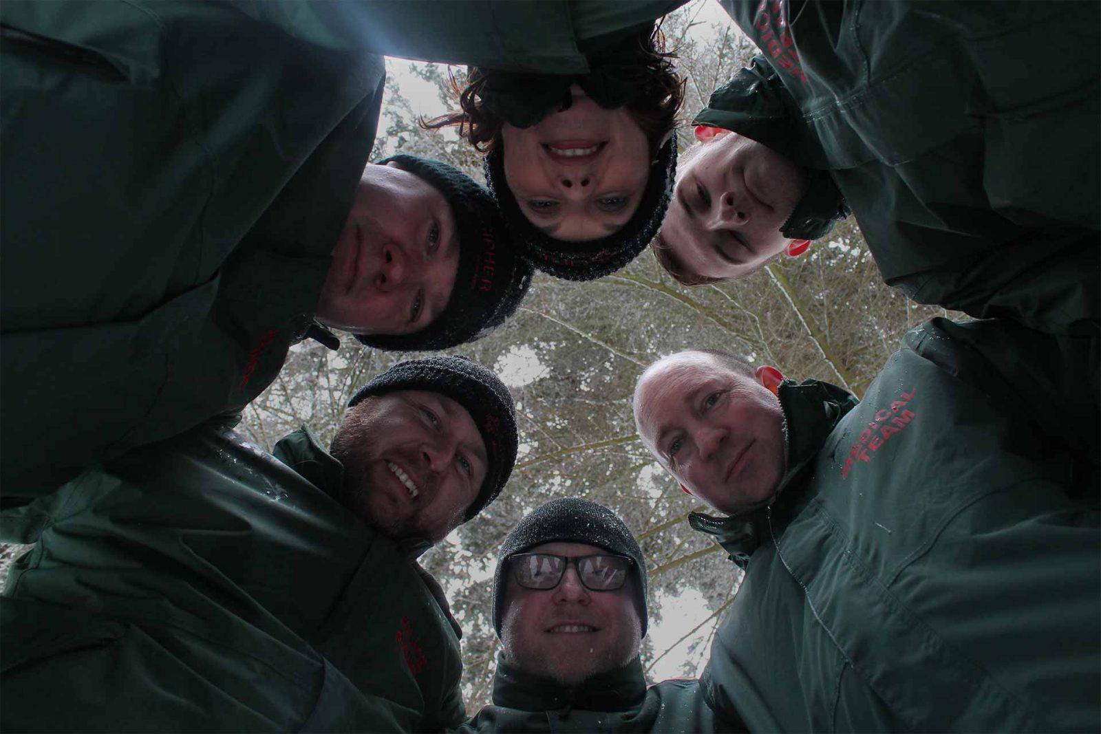 Cipher medical team huddle