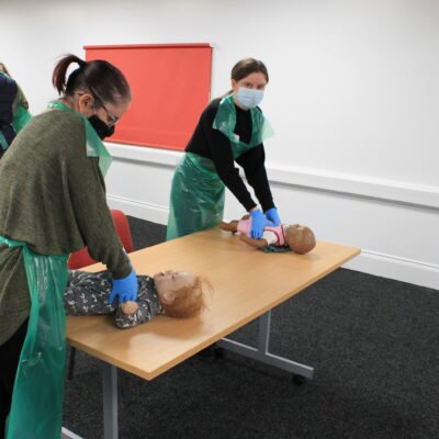 Paediatric first aid training course in action
