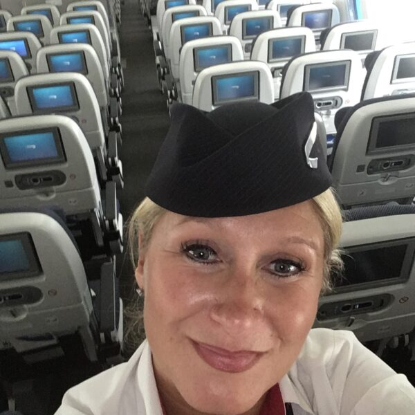 airline stewardess on a plane