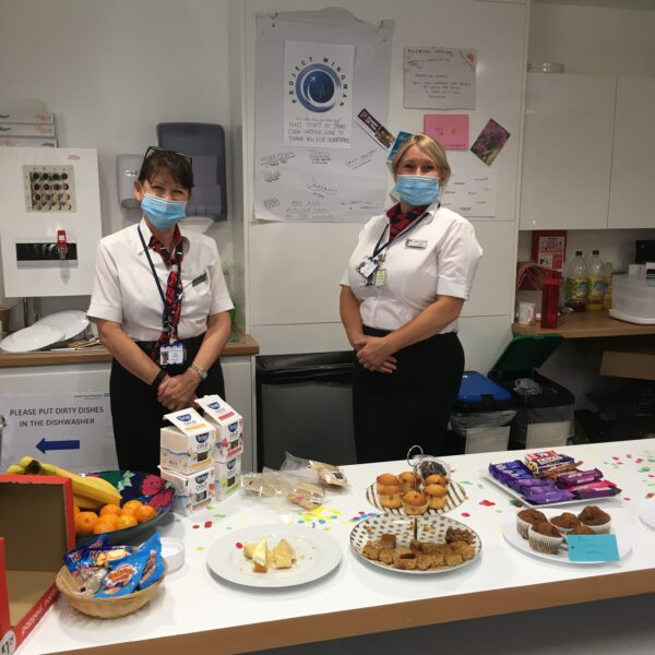 employees providing refreshements for nhs workers